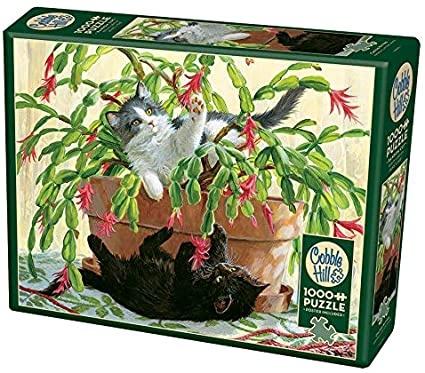 Cobble Hill 1000 Piece Puzzle Cactus Kittens