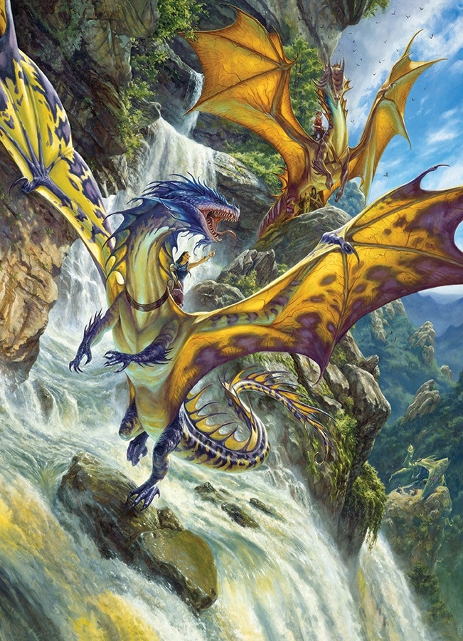 Cobble Hill 1000 Piece Puzzle Waterfall Dragon