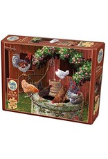 Cobble Hill 275 Piece Puzzle The Chickens are well