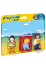 Playmobil 1.2.3 Parent's with Baby Cradle