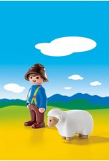 Playmobil 1.2.3 Shepherd with Sheep