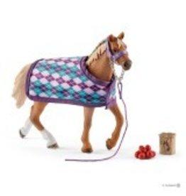Schleich English Thoroughbred with Blanket