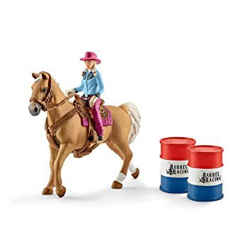 Schleich Horse Barrel Racing with Cowgirl (41417)
