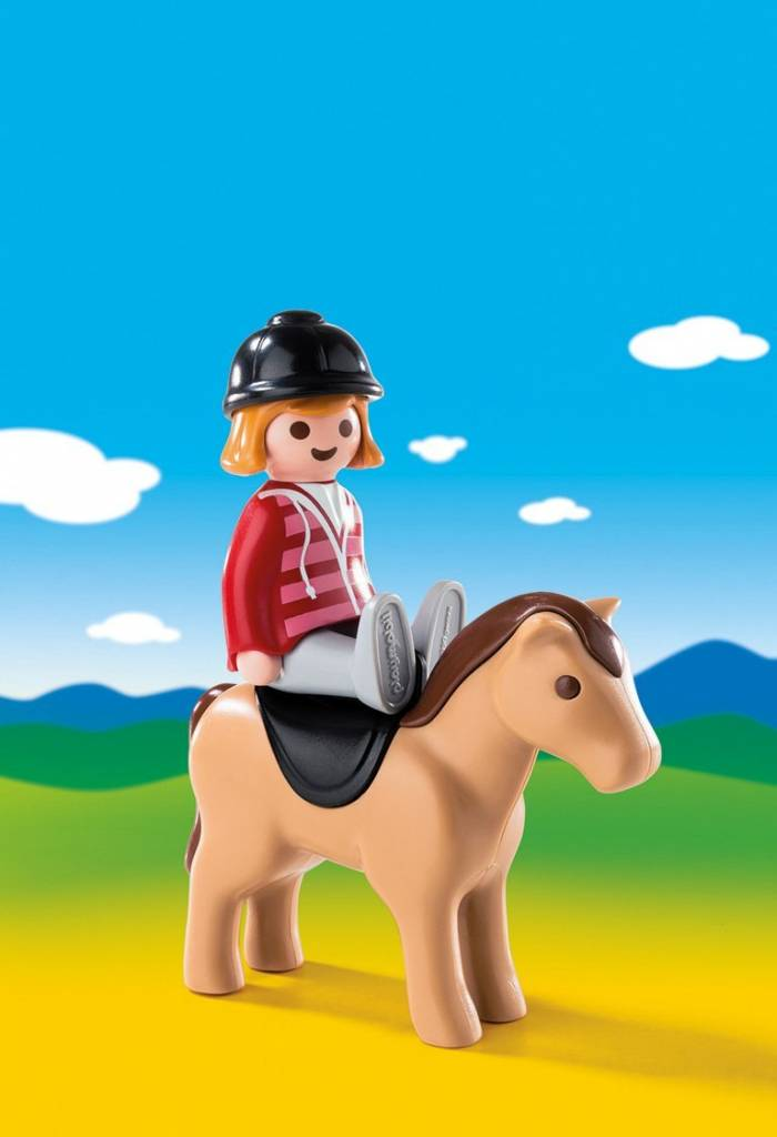 Playmobil 1.2.3  Equestrian with Horse