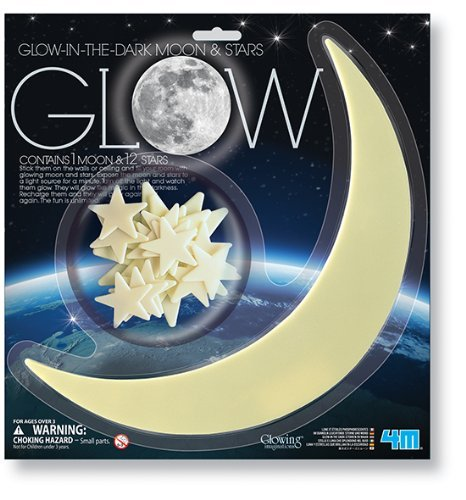 4M Glow-In-The-Dark Moon And Stars