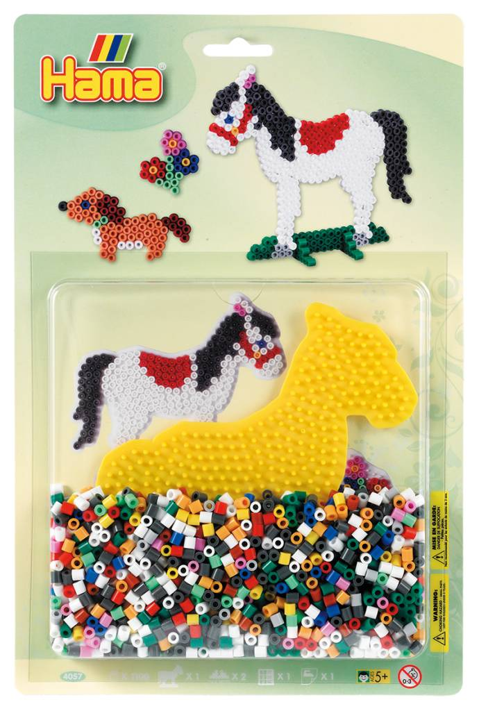 Hama Large Bead Kit Green Horses