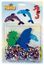 Hama Large Bead Kit Blue Sea Animals