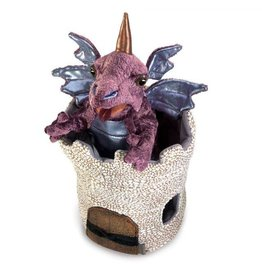 Folkmanis Dragon in Turret Puppet