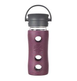Lifefactory 16oz Glass Mug with Cafe Cup Plum