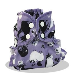 AppleCheeks Cloth Diaper Cover Caturday