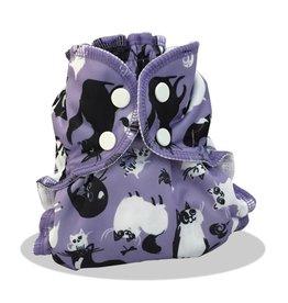 AppleCheeks Cloth Diaper Cover Caturday