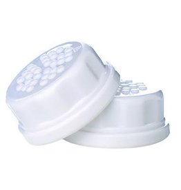Lifefactory Flat Caps 2 Pack for 4oz and 9oz Bottles, White