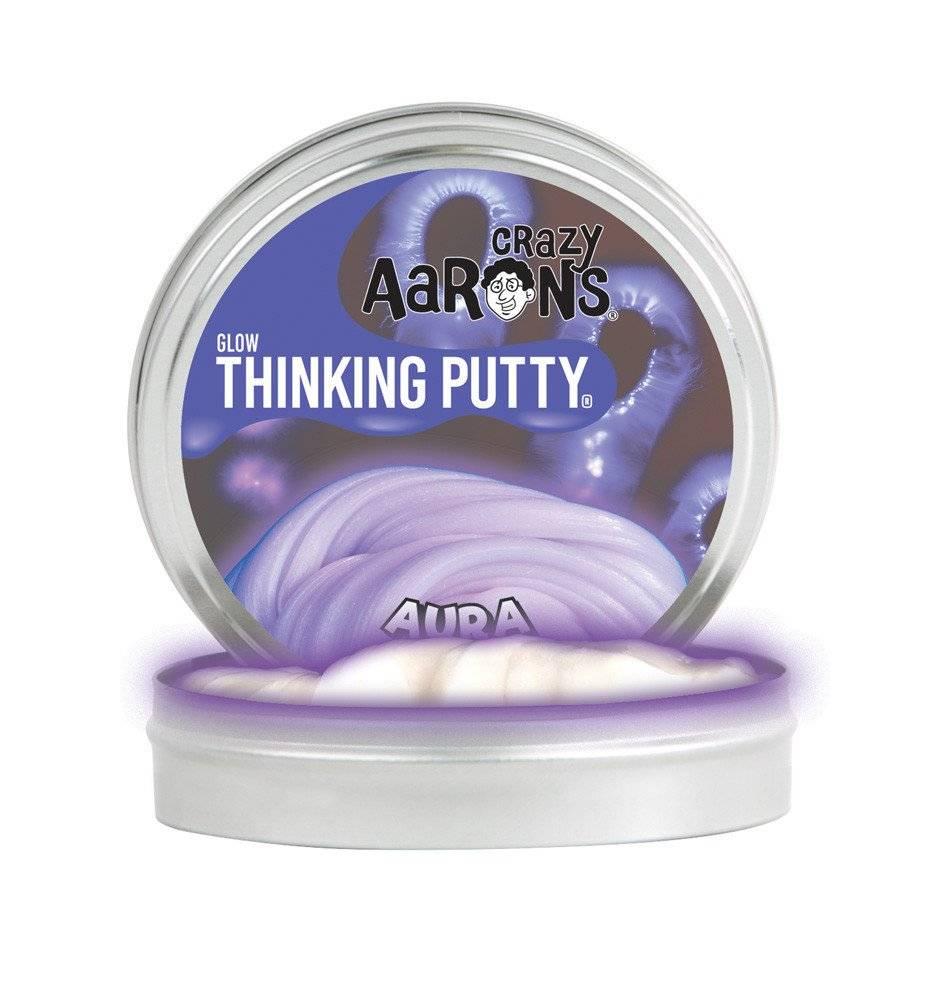 Crazy Aaron's Thinking Putty Aura - Glow In the Dark 4 inch Tin
