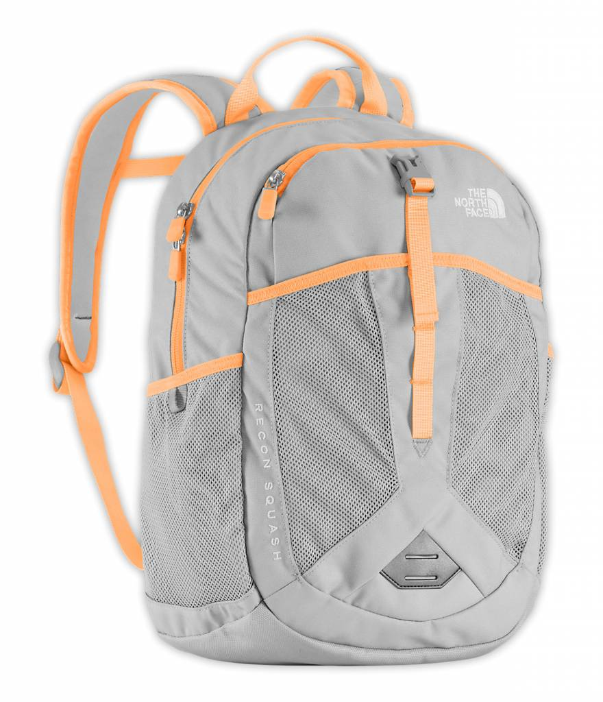The North Face Youth Recon Squash Backpack High Rise Grey Naranja Orange ... d1089269075e2