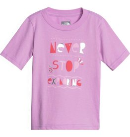 The North Face Toddler Short Sleeve Graphic Tee Violet Tulle Mountain Culture