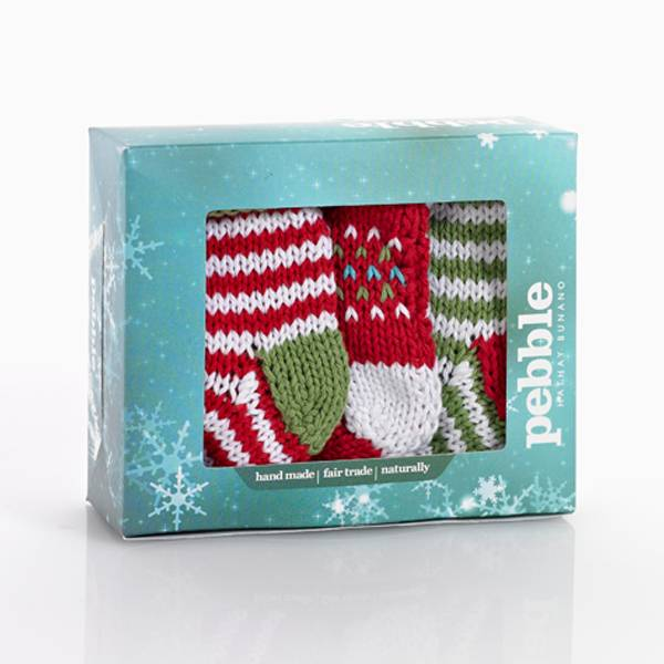 Knitted Mini Stockings (Set 3)