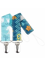 Bumkins Pacifier Clip 2 pack Sea Friends & Whales