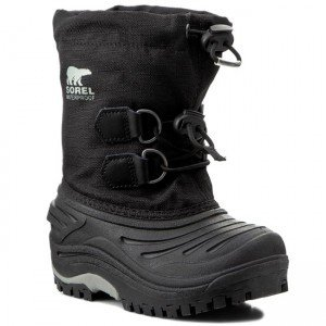 Sorel Super Trooper Children's Black/Light Grey