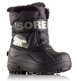 Sorel Children's Snow Commander Boot Black, Charcoal