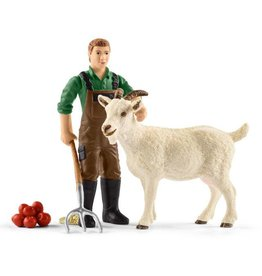 Schleich Farmer with Goat
