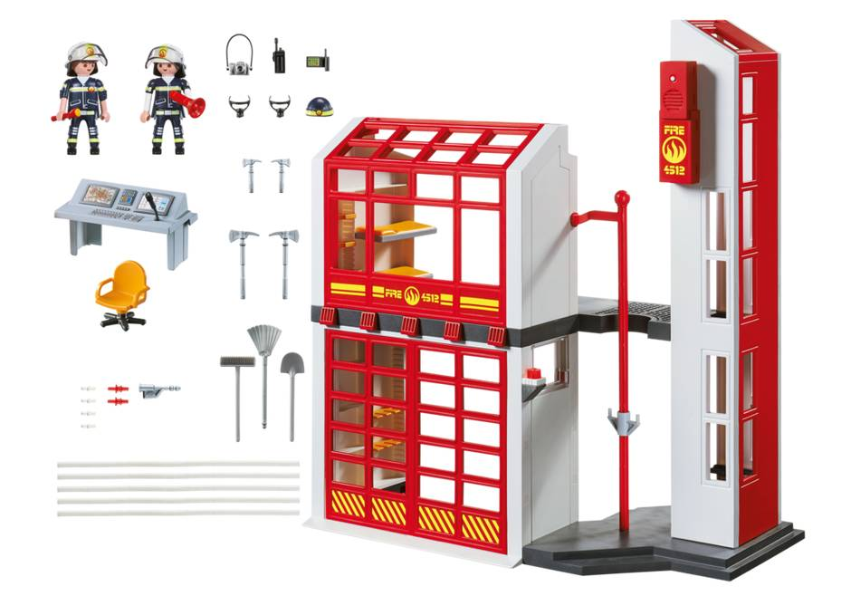 Playmobil Fire Station With Alarm 5361 Grow Children S Boutique Ltd