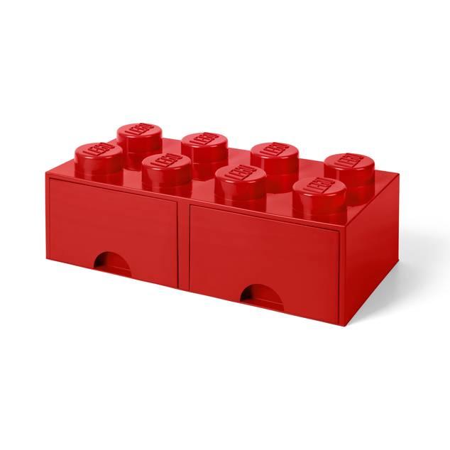 Lego Brick Storage Drawer 8 Red