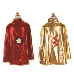 Great Pretenders Reversible Wonder Cape, Gold and Red