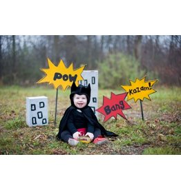 Great Pretenders Toddler Bat Cape, Black