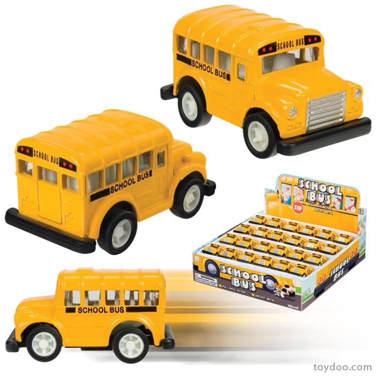 Pull Back Mini School Bus