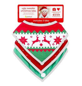 Pearhead Ugly sweater Christmas bibs