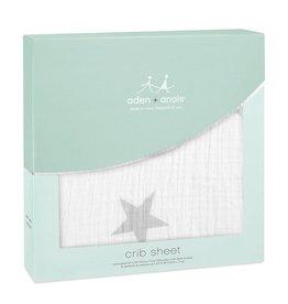 aden + anais Crib Sheet Twinkle-Silver Star