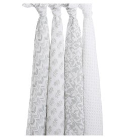 aden + anais Swaddles 4 pack Tea Collection Savannah Animals