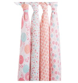 aden + anais Swaddles 4 pack Tea Collection Global Garden