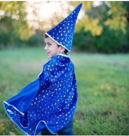 Great Pretenders Glitter Wizard Set Blue/Silver 4-6