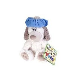 Wild Republic Dog with Headache Stuffed Animal - 10""