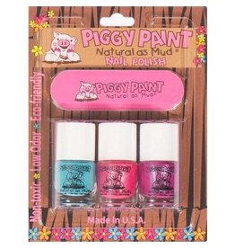Piggy Paint 3 Pack w/ Nail File - Forever Fancy/Seaquin/Girls Rule