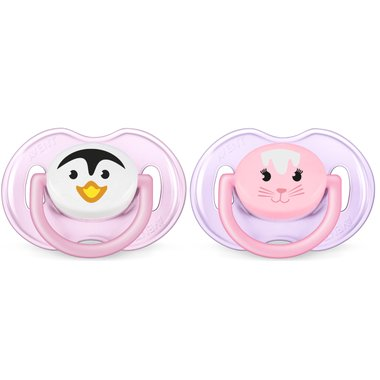 Avent Animals Pacifier Toddler Girls 0-6M