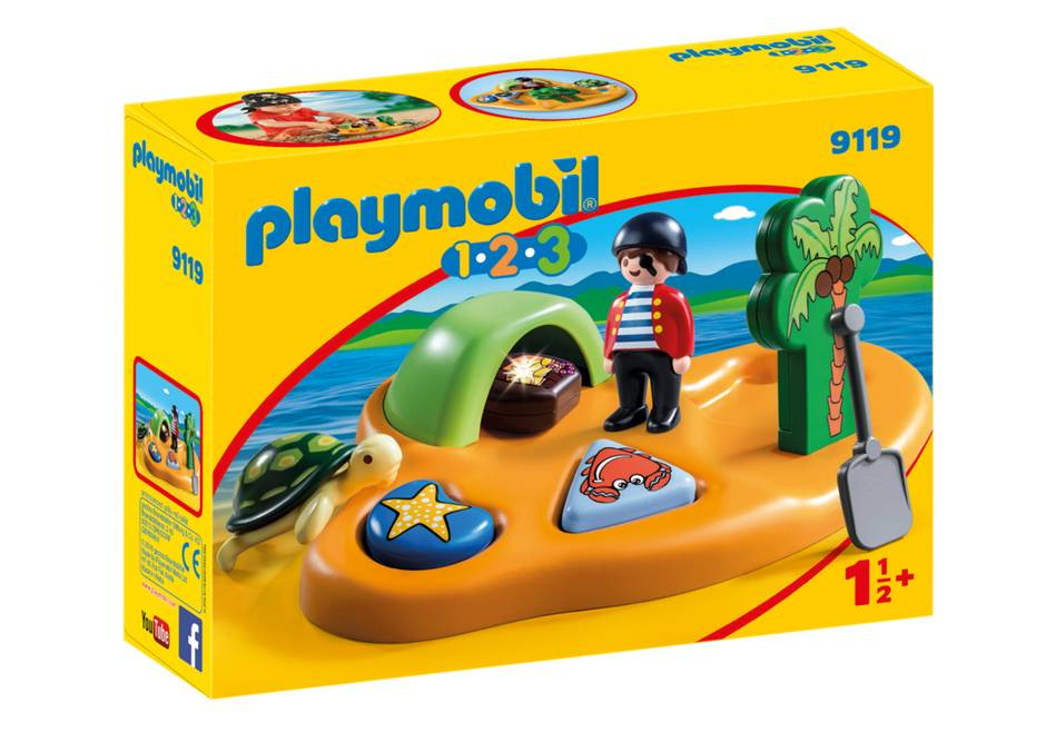 Playmobil 1.2.3 Pirate Island