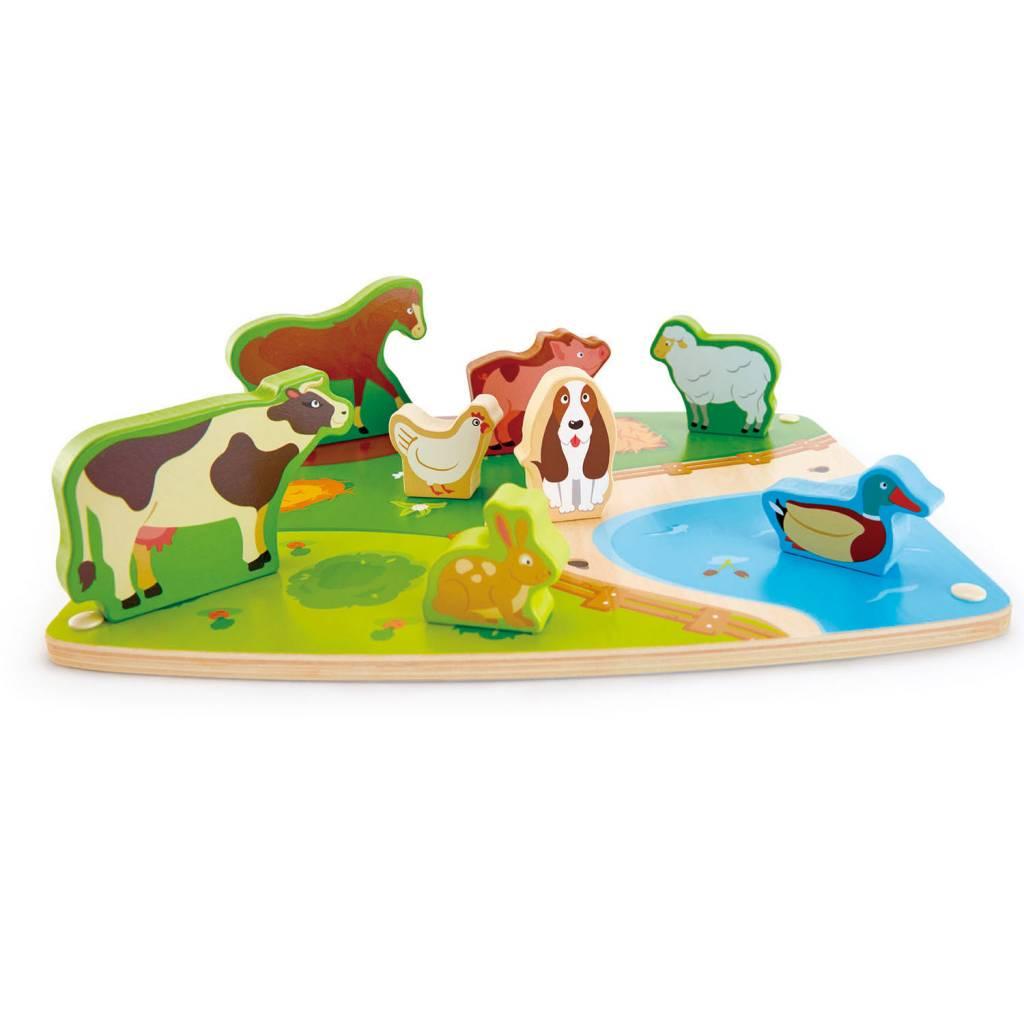 Hape Farm Animal Puzzle & Play