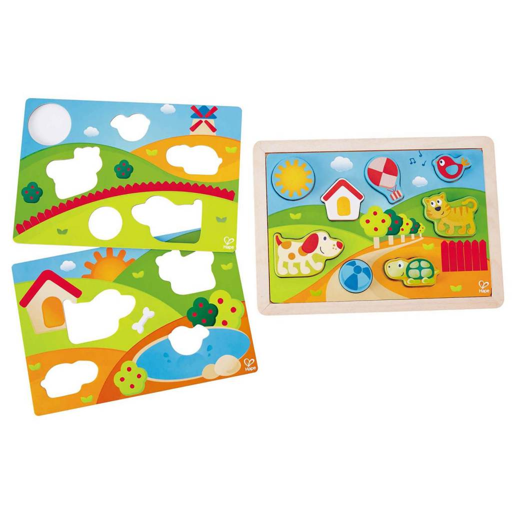 Hape Sunny Valley Puzzle 3 in 1