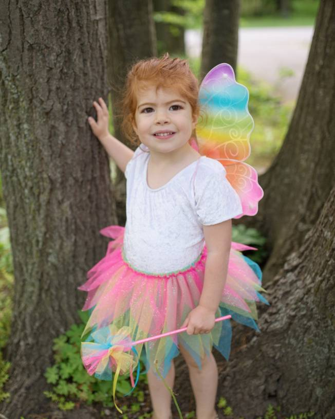 Great Pretenders Neon Rainbow Skirt,Wings, Wand Size 4-6