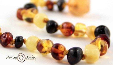 Healing Amber Multi ~ Circle ~ 13 inches