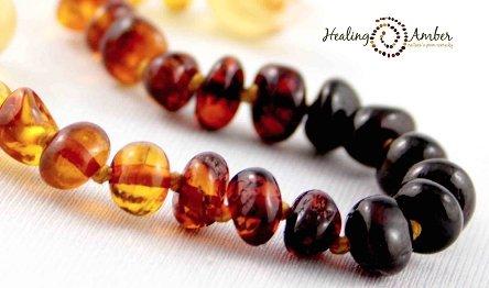 Healing Amber Rainbow Circle 6.5 Circle Stretch Bracelet