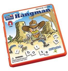 PlayMonster Take 'n' Play Hangman Game Tin (Bilingual)