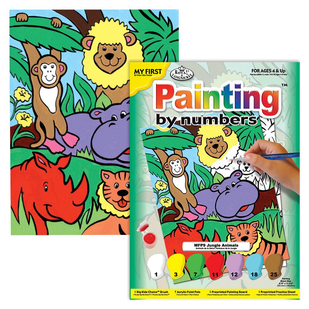 Royal Langnickel Paint by numbers Jungle Animals
