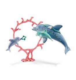 Schleich Dolphin Mum w/ Babies