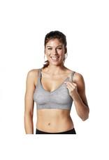 Bravado Body Silk Seamless Yoga Nursing Bra Dove Heather