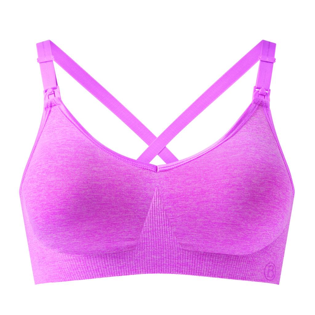 Bravado Body Silk Seamless Yoga Nursing Bra Pink Heather