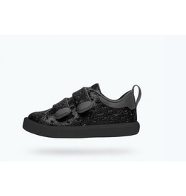 Native Monaco Velcro Junior Black Glitter/Jiffy Black