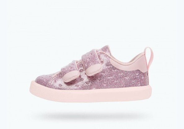 Native Monaco Velcro Junior Pink Glitter/Cold Pink